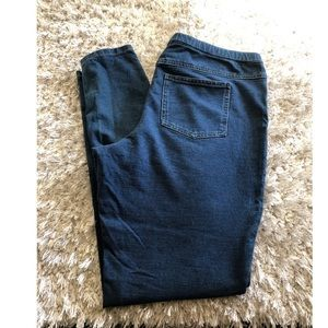 Hue Denim Look Leggings Size Large